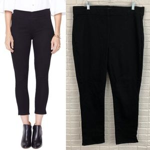 NYDJ high rise pull on stretch skinny jeans black